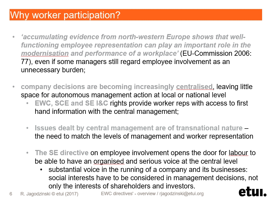 Why Worker Participation? / About WP / Home - WORKER